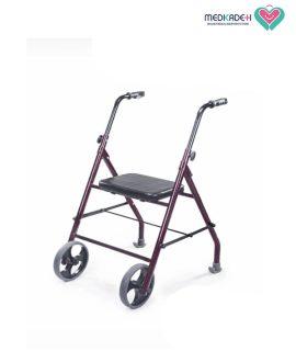 واکر دو چرخ صندلی دار Two-wheeled walker with seats